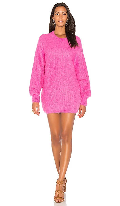 Free People It Girl Pullover Sweater in Fuchsia
