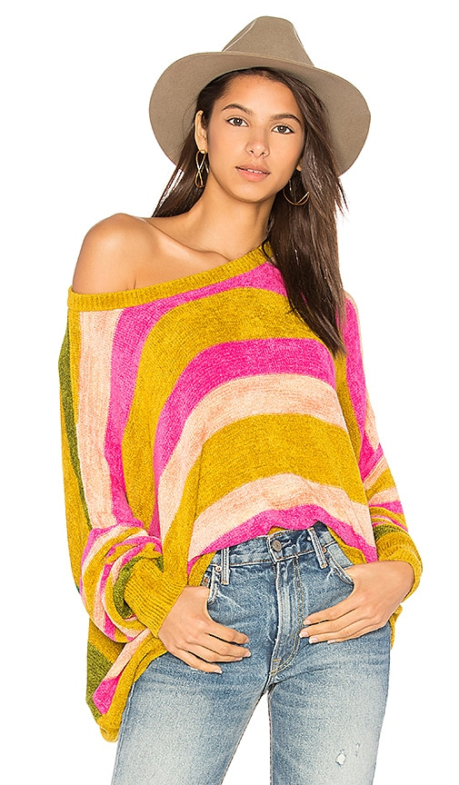 Free People All About You Pullover Sweater in Pink