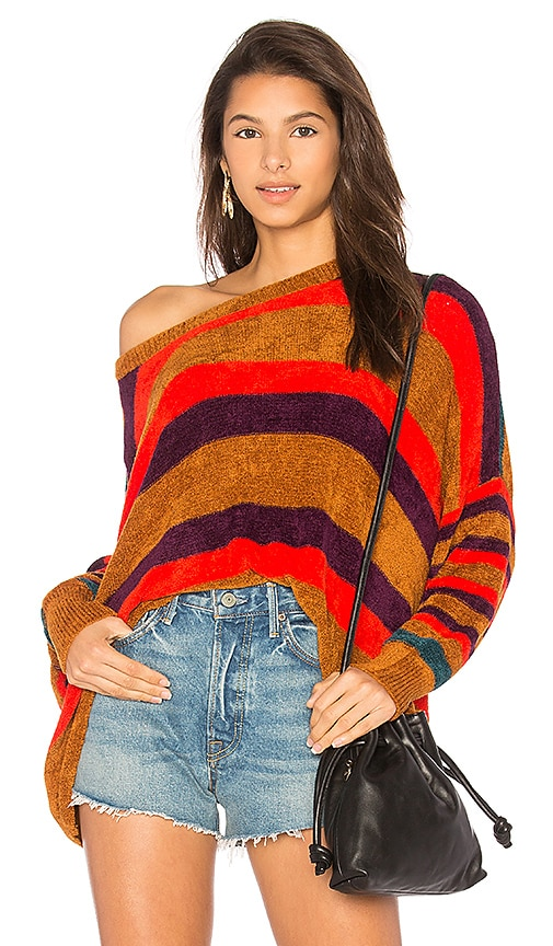 Free People All About You Pullover Sweater in Red