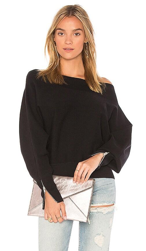 Free People Hide and Seek Pullover Sweater in Black