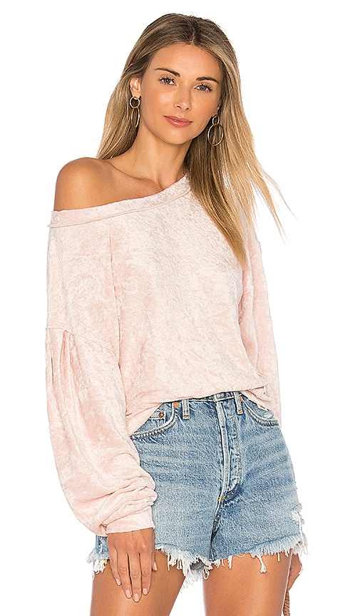 Free People Milan Layering Pullover Sweater in Pink