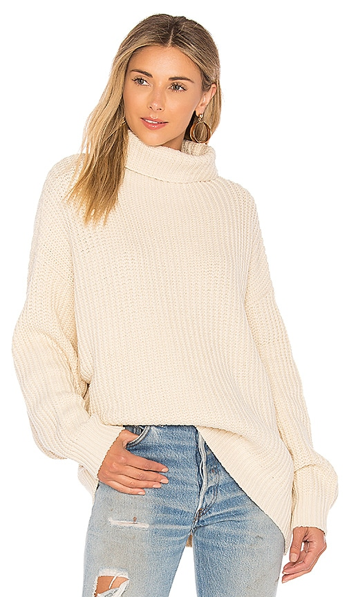 Free People Swim Too Deep Pullover Sweater in Ivory