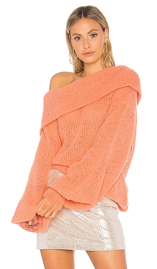 Free People Ophelia Pullover Sweater in Orange