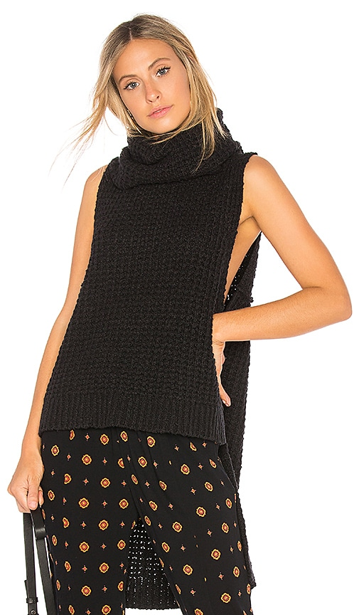Free People Sky Scraper Pullover Sweater in Black