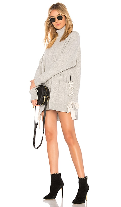 Free People So Plush Pullover Sweater in Gray