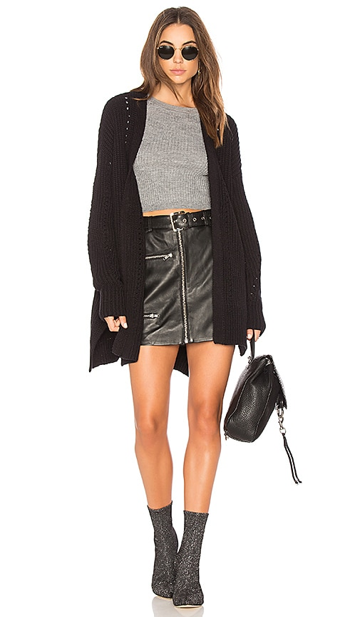Free People Nightingale Cardigan in Black