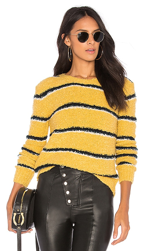 Free People Best Day Ever Sweater in Yellow