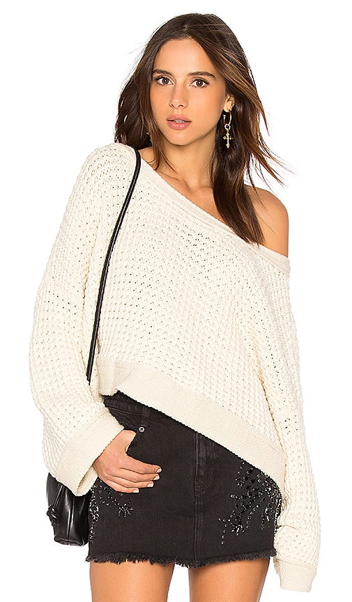 Free People Maybe Baby Sweater in White