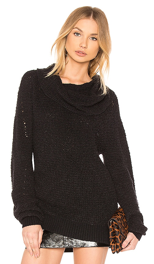 Free People By Your Side Sweater in Black