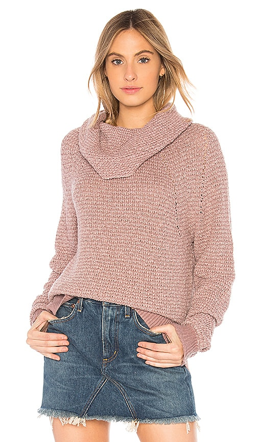 Free People By Your Side Sweater in Pink