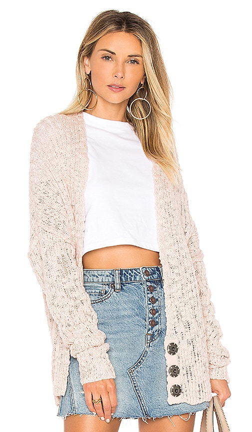 Free People Fun Times Cardigan in Blush