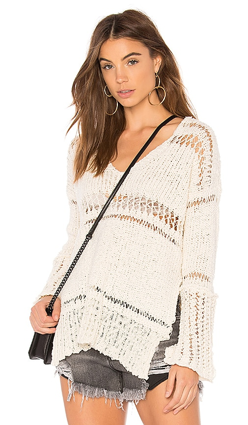 Free People Belong To You Sweater in Ivory