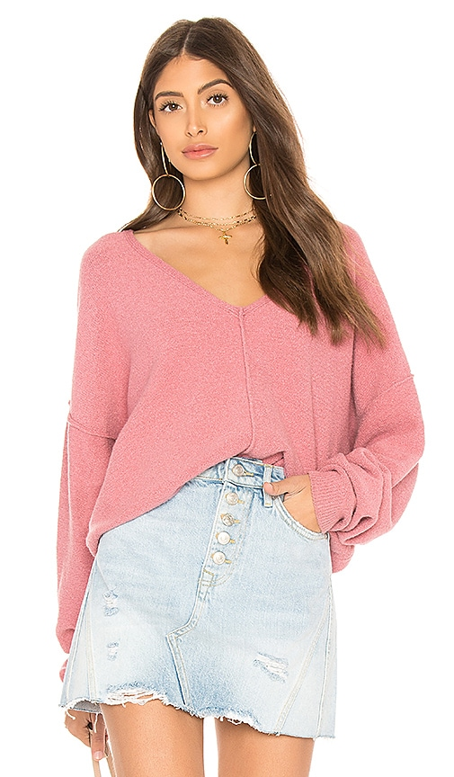 Free People Take Me Places Pullover in Pink