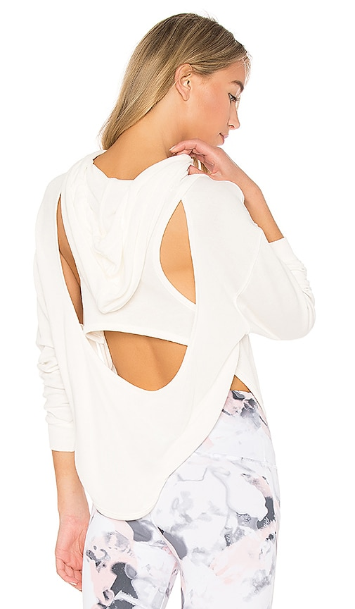 Free People Back Into It Hoodie in White