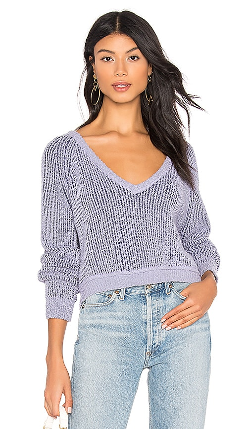 High Low V Sweater