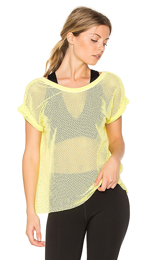 Free People Hot Stuff Mesh Tee in Yellow