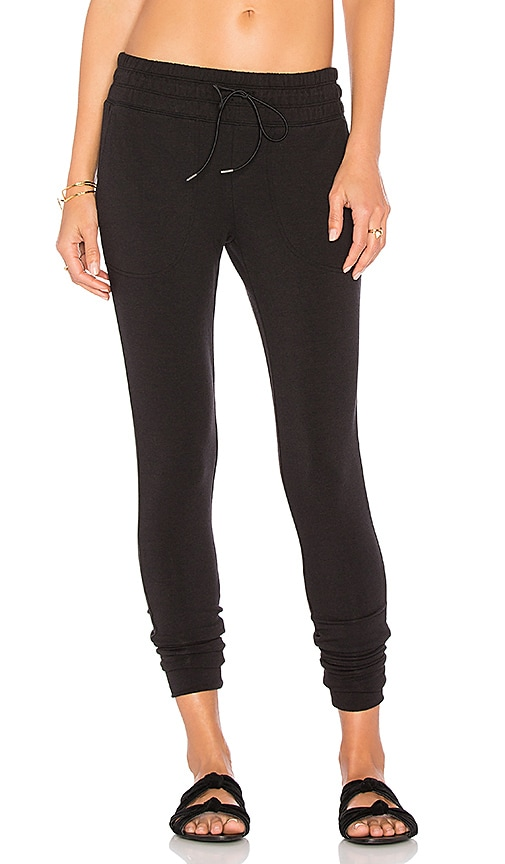Free People Cloud Nine Skinny Sweatpant in Black