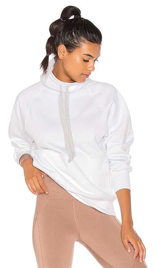Free People Fletcher Run Hoodie in White