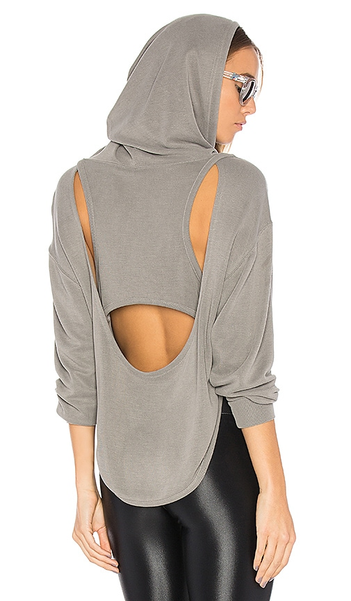 Free People Back Into It Hoodie in Gray