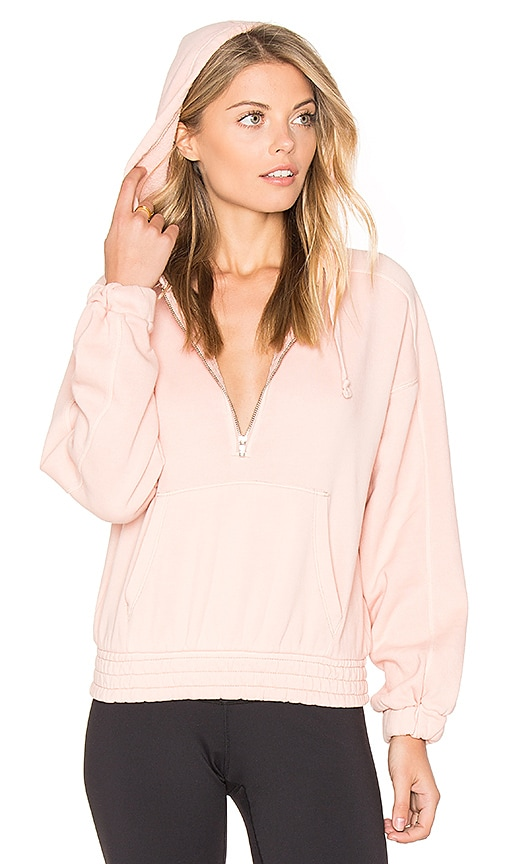 Free People Retro Vibes Hoodie in Pink