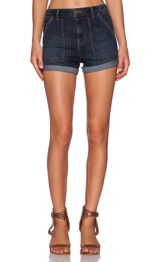 Free People Hi Rise Cuffed Short in Lily