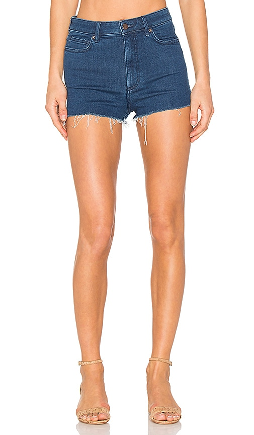Free People High & Tight Cut Off Shorts in Blue