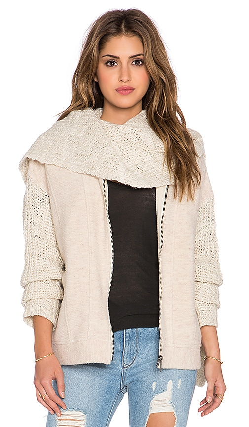 Free People Superstar Scarf Jacket in Sand