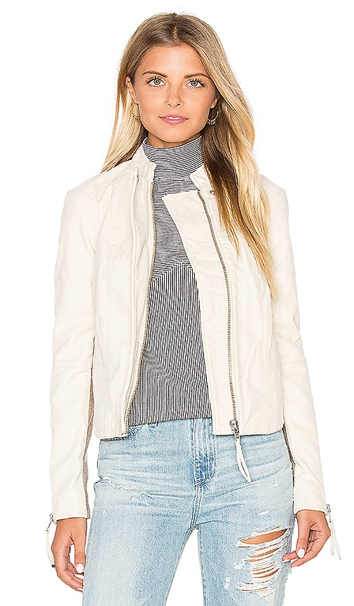 Free People Cool and Clean Vegan Suede Jacket in Ivory