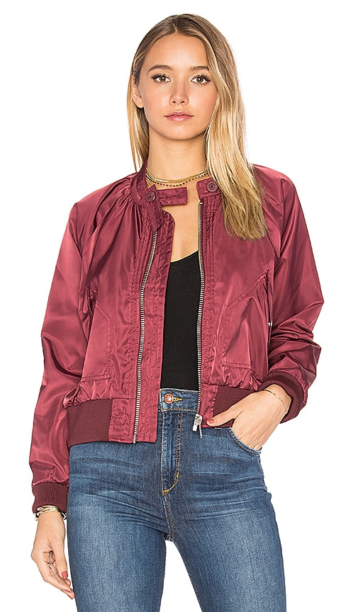 Free People Midnight Bomber in Burgundy