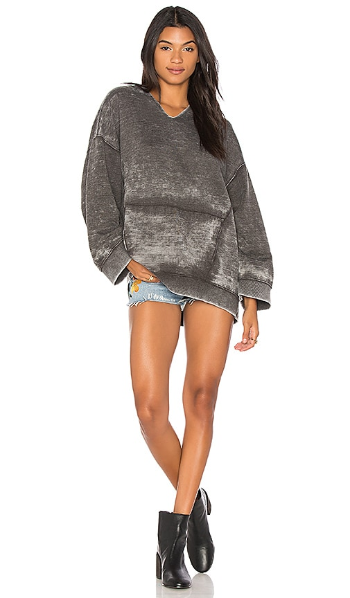 Free People Get It Hoodie in Black
