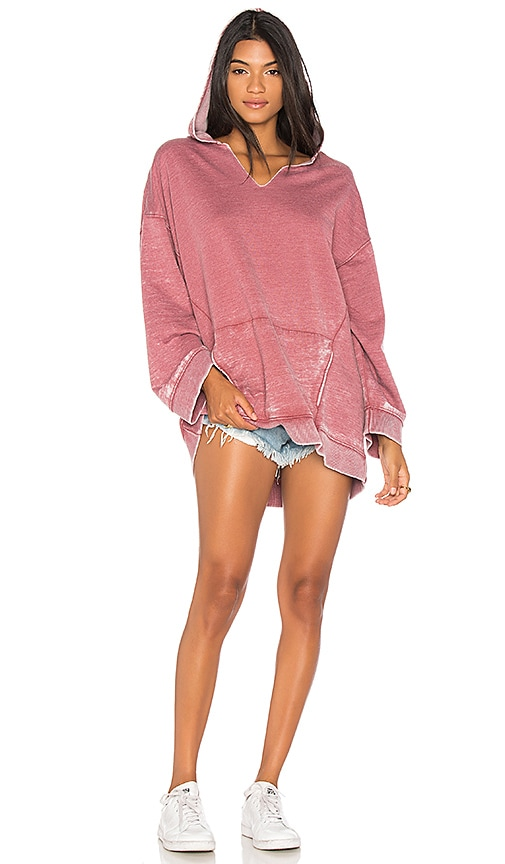Free People Get It Hoodie in Pink