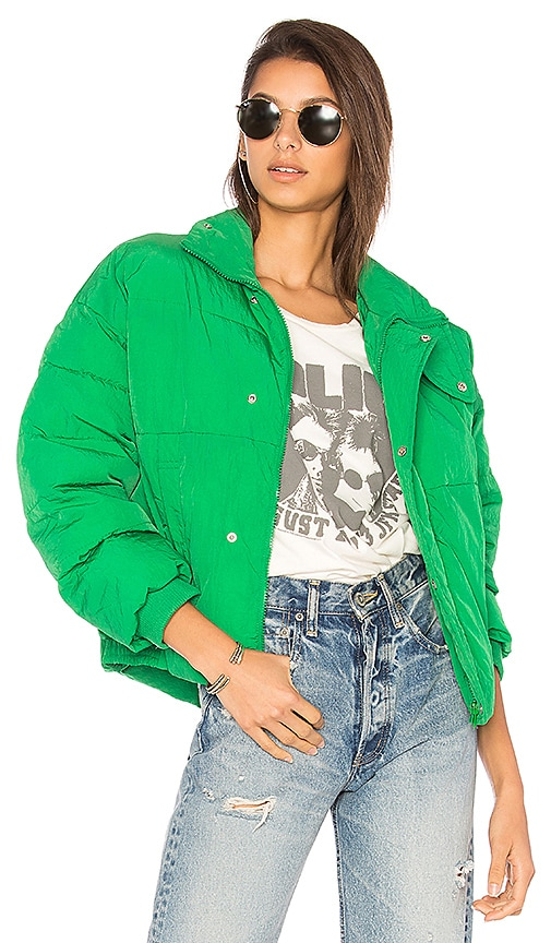 Slouchy Cropped Puffer Coat