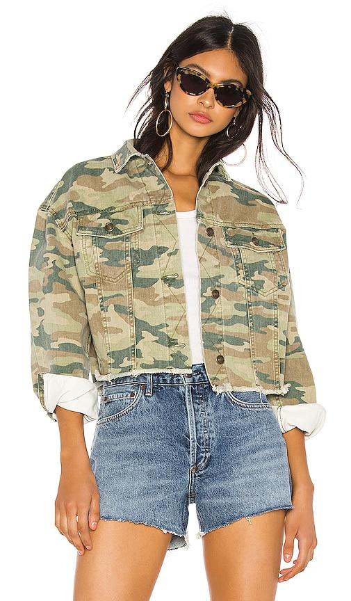 Camo Printed Denim Jacket