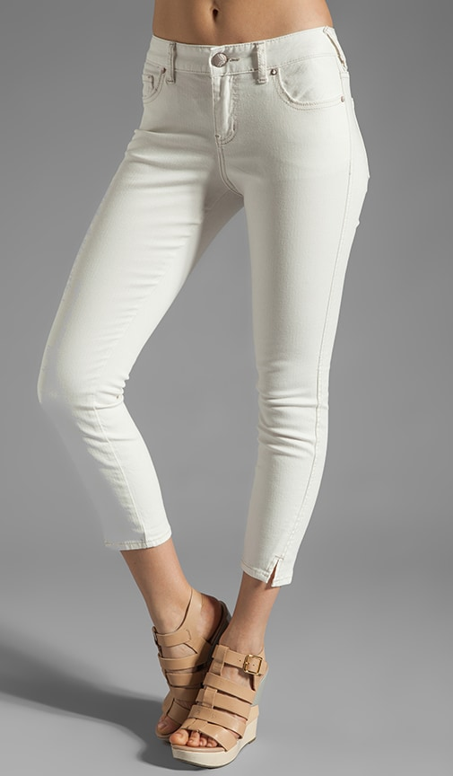 Stretch Herringbone Crop Skinny