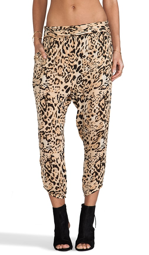 Cheetah Twisted Harem Pant