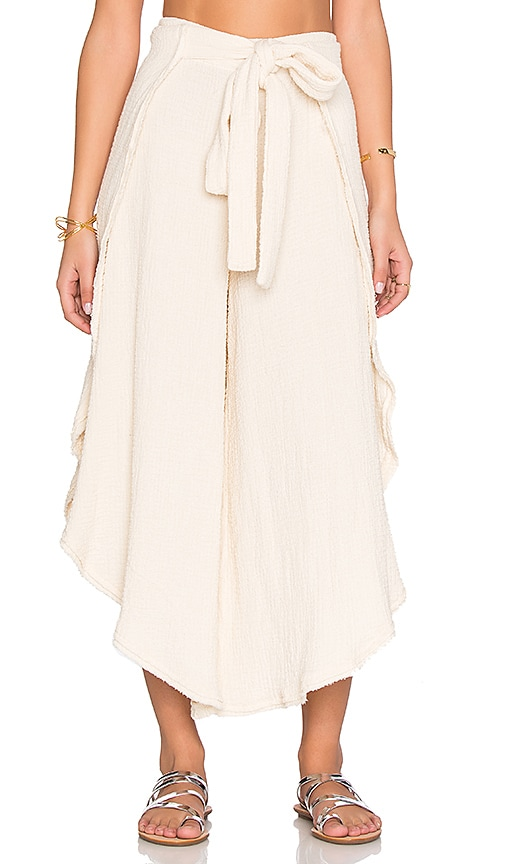 Free People Poppy Petal Pant in Cream