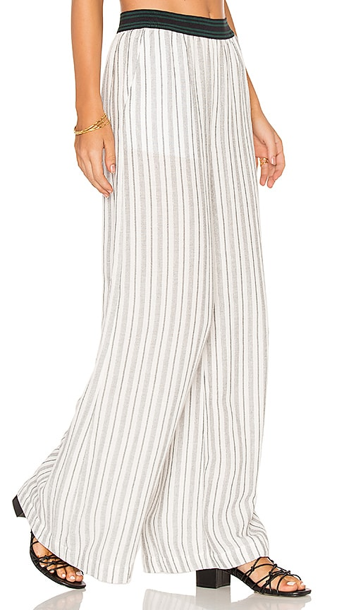 Free People Wide Leg Pull On Pant in White