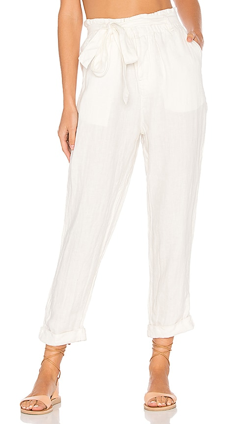 Free People Paper Bag Pant in White