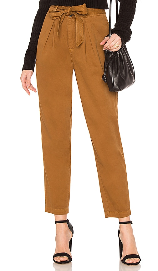 Free People Hi-Waisted Pegged 90's Pant in Brown