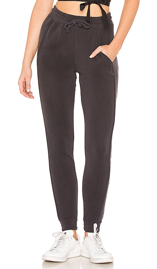 Free People Back Into It Jogger in Black