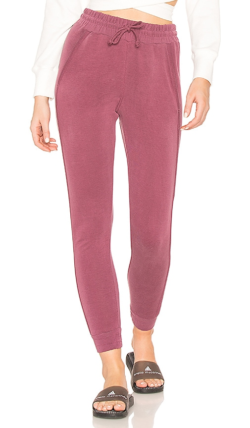 Free People Back Into It Jogger in Wine