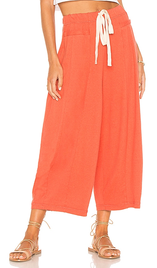 Free People Wild Is The Wind Pant in Red