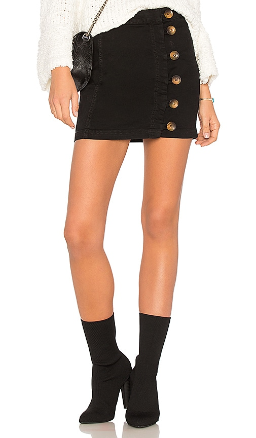 Free People Little Daisies Mini Skirt in Black