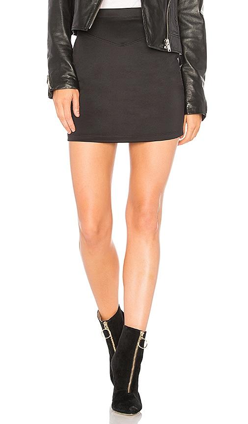Free People Ponte Knit Skirt in Black