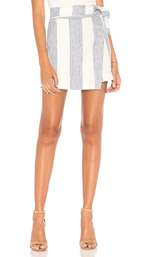 Free People Uptown Days Mini Skirt in Blue