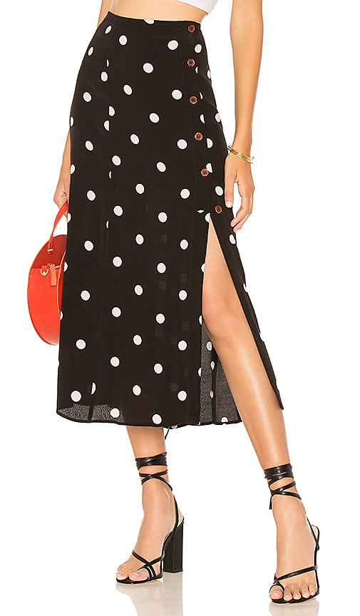 34da207536 Free People Retro Love Midi Skirt in Black & White | REVOLVE