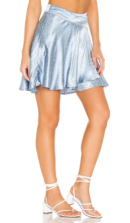 Free People Starstruck Mini Skirt in Light Blue