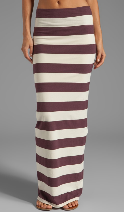 Stripe Column Maxi Skirt