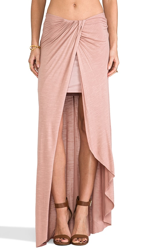 Slubby Column Skirt