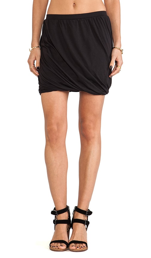 Heather Twisted Bubble Skirt